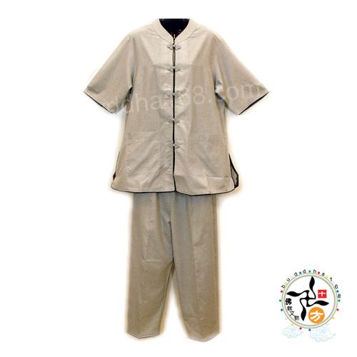 女居士服滾黑邊夏裝短袖XL十方佛教文物