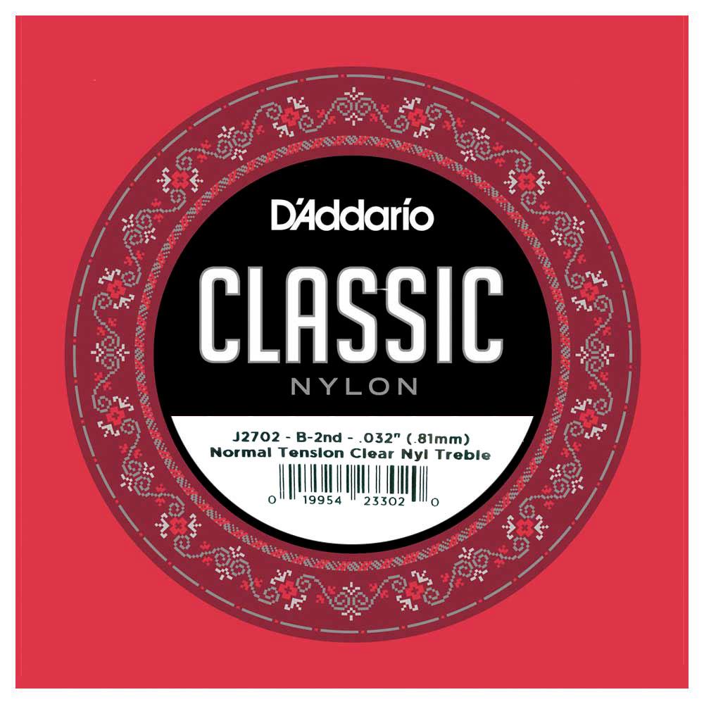 小叮噹的店-D'Addario J2702 古典吉他弦 第二弦 B弦 (032) (EJ27 E弦)