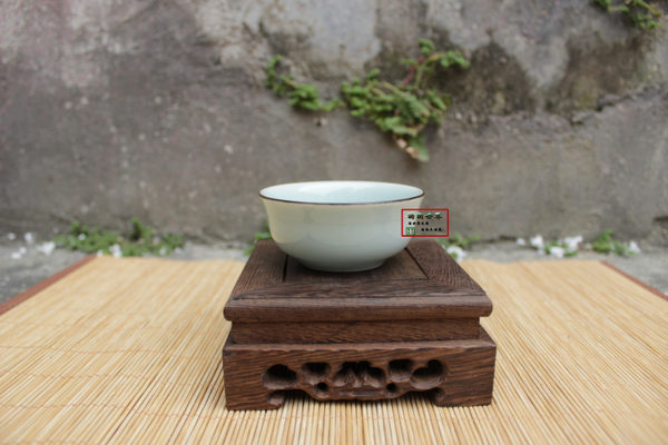 仿古手繪金魚五色普洱杯茶具青瓷浮雕魚小碗反口杯