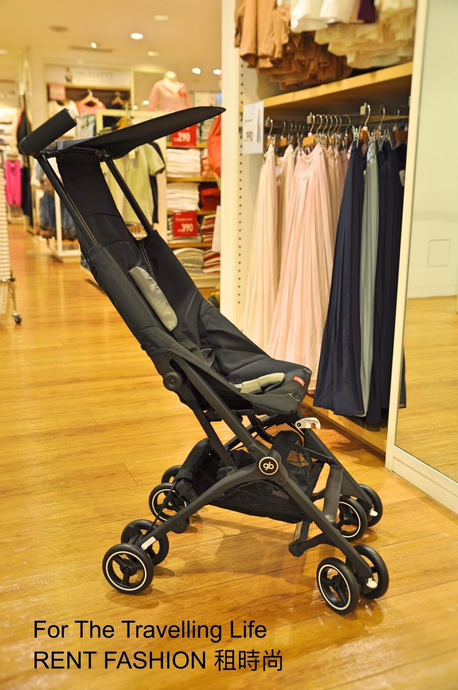 時尚品味嬰兒車出租日本口袋型推車POCKIT3代新生兒時尚黑推車出租