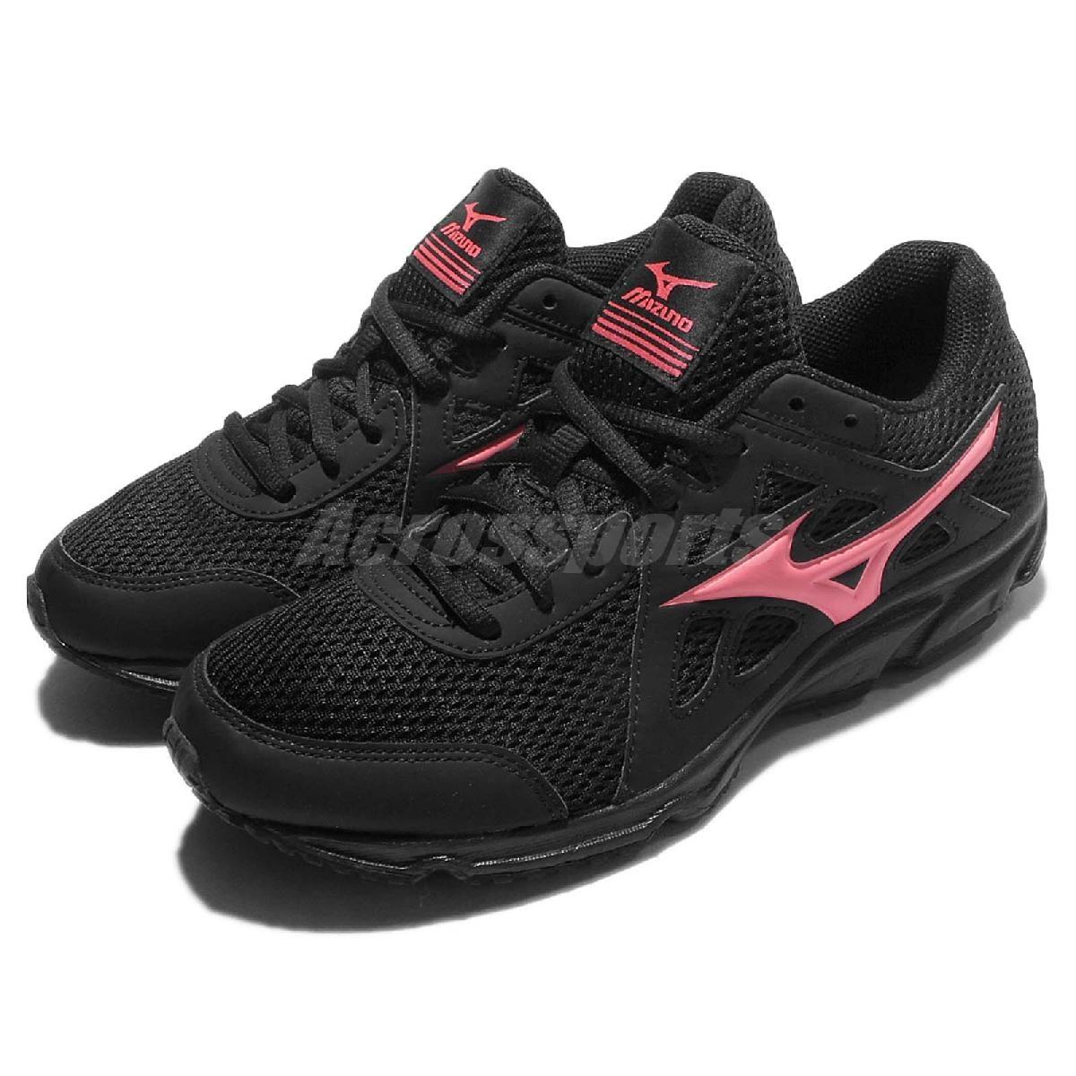 Mizuno 慢跑鞋 Maximizer 19 黑 粉紅 網布 透氣輕量 女鞋【PUMP306】 K1GA170155