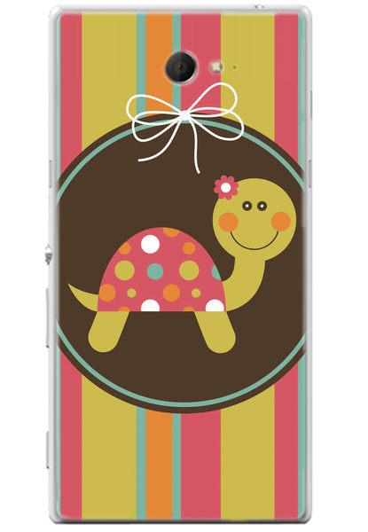俏魔女美人館Sony Xperia M2小烏龜水晶硬殼手機殼保護殼