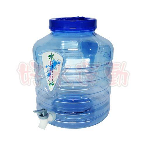 水蘋果居家淨水~快速到貨~2.5加侖圓形藍色 飲用水桶(附出水龍頭)