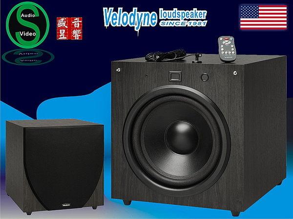 盛昱音響~美國 VELODYNE EQ-MAX系列10吋重低音喇叭EQ-MAX10全功能遙控器-公司貨二年保固