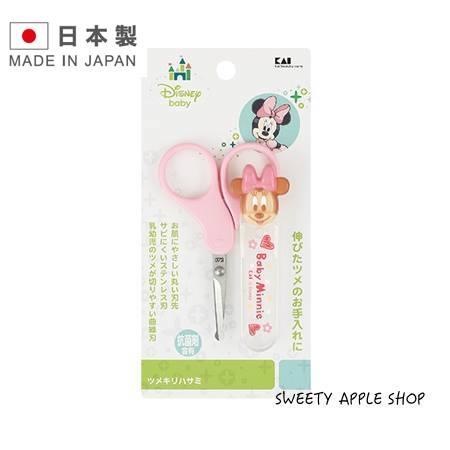 日本製日本限定迪士尼DISNEY baby米妮嬰幼兒專用曲線指緣指甲刀