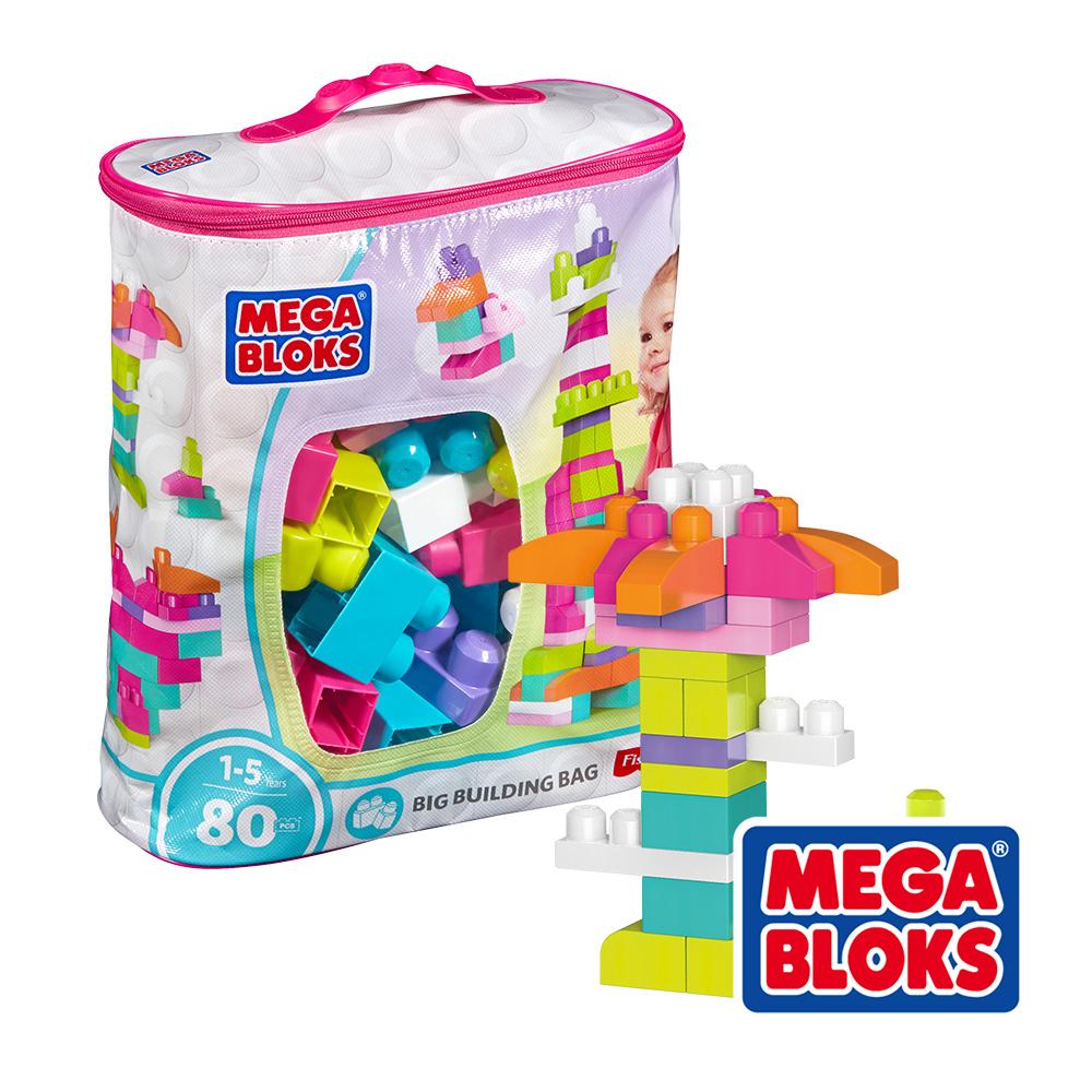 MEGA BLOKS 美高積木 80片積木袋 (粉) 美泰兒正貨