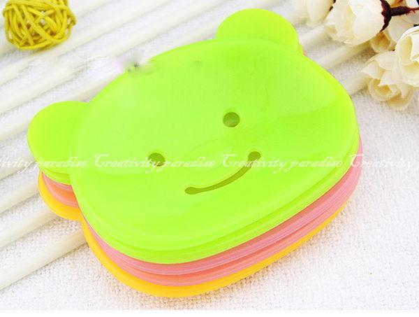 【小熊香皂盤】可愛卡通動物造型肥皂盤肥皂盒