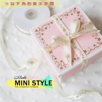 [Mini style] 包裝盒 粉色 燙金 月餅盒 50g 烘焙 蛋糕盒 餅乾盒 西點盒 1個價 情人節 送禮