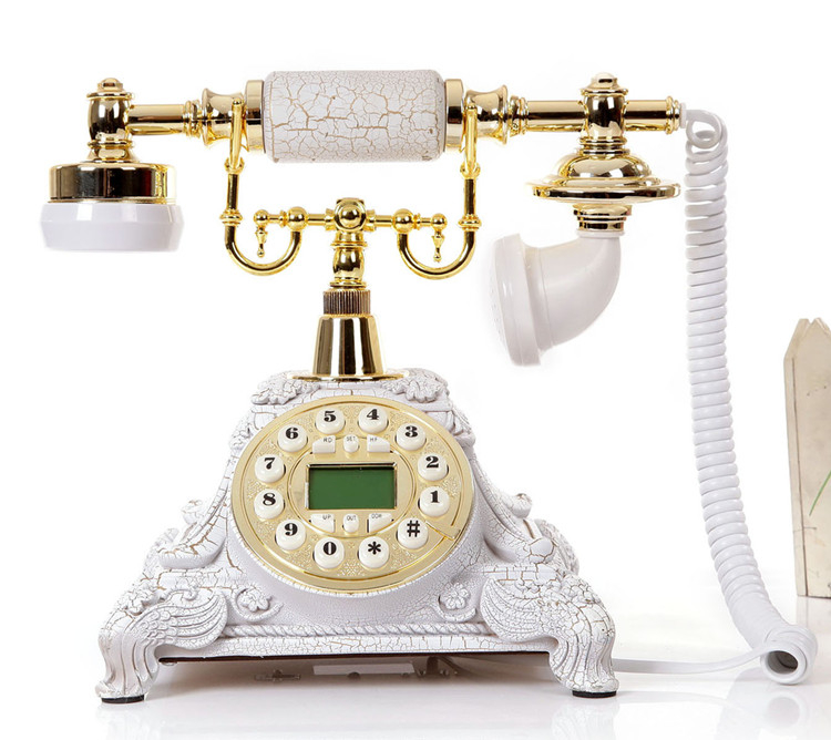 復古工藝-旋轉電話機家用座機辦公電話仿古歐式復古電話機  預購10天 現貨