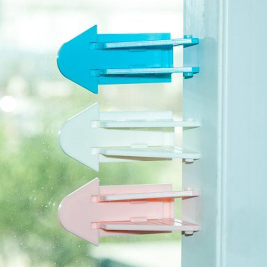生活家精品N79移動門窗安全鎖兒童防護鎖扣保護黏貼窗戶玻璃窗阻擋門片居家
