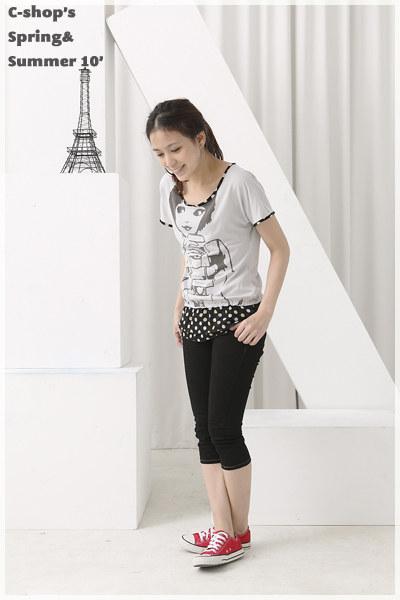 T恤【9424】FEELNET中大尺碼女裝夏裝新款印花短袖上衣T恤 38-40碼