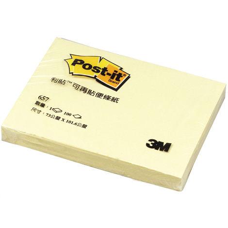 3M 便利貼可再貼便條紙(657)