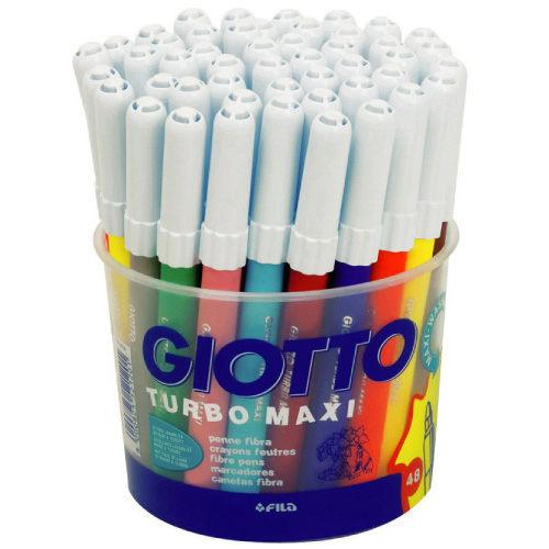 義大利GIOTTO可洗式兒童安全彩色筆校園48支裝JOYBUS玩具百貨