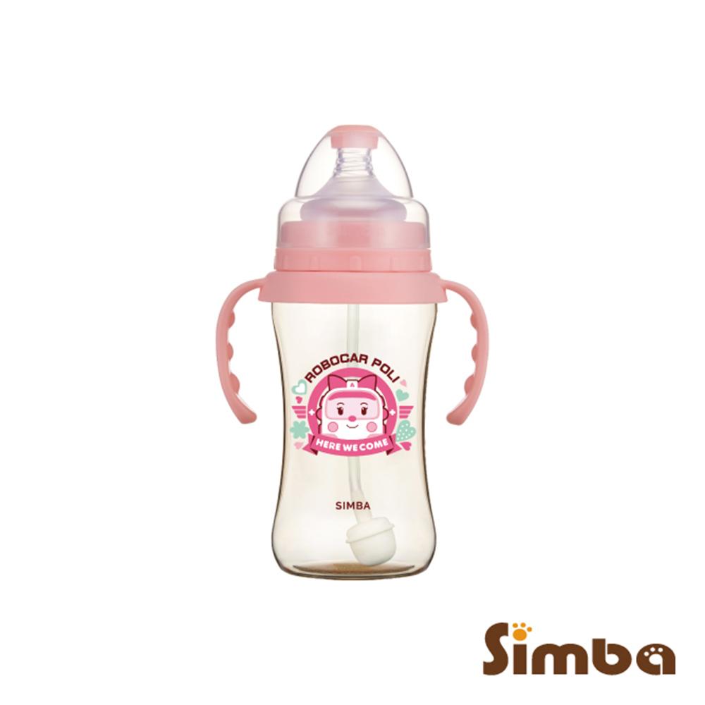 小獅王辛巴 安寶PPSU自動把手寬口雙凹中奶瓶(270ml)