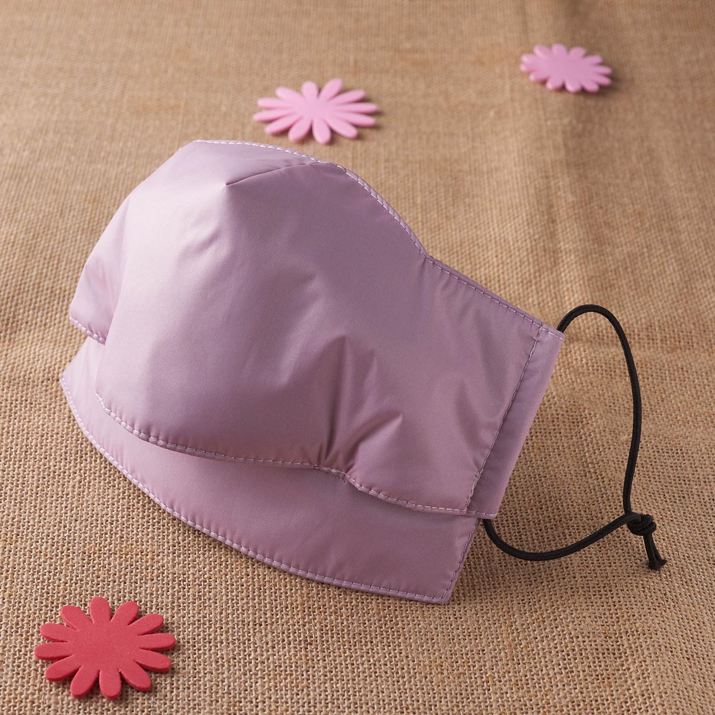 【雨晴牌-專利開口防雨口罩】◎成人-粉紫色◎100%防豪大雨 特製親膚軟質防水布 超舒適 99%抗UV