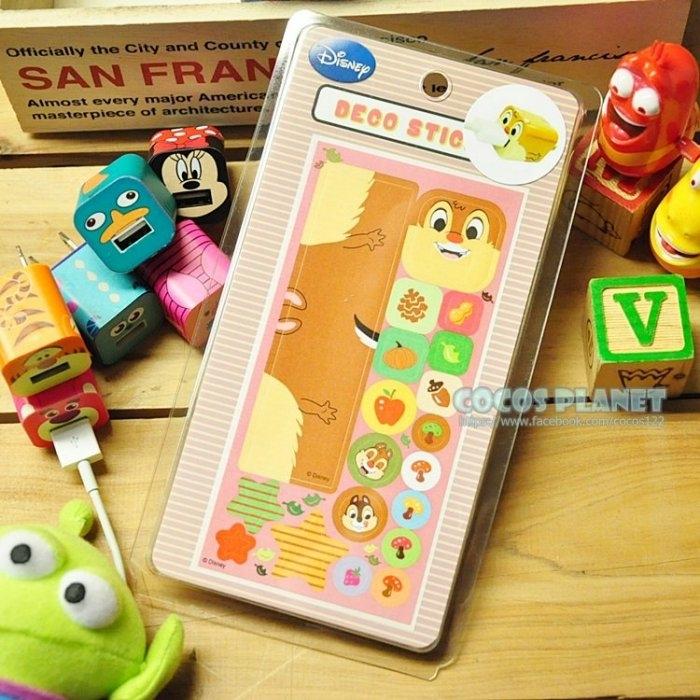 迪士尼裝飾貼紙奇奇蒂蒂花栗鼠IPHONE豆腐充貼紙插頭貼紙COCOS PL055