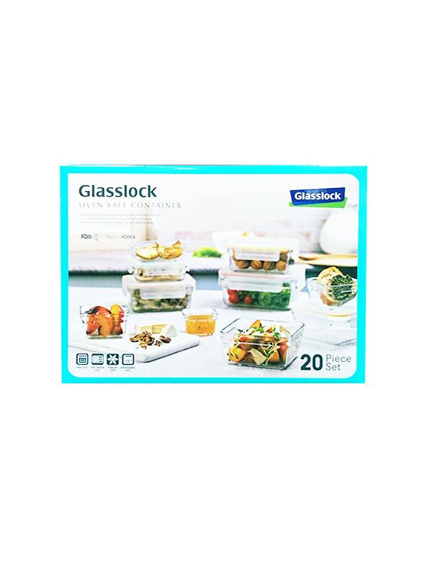 Glasslock無邊框系列玻璃保鮮盒含蓋共20件