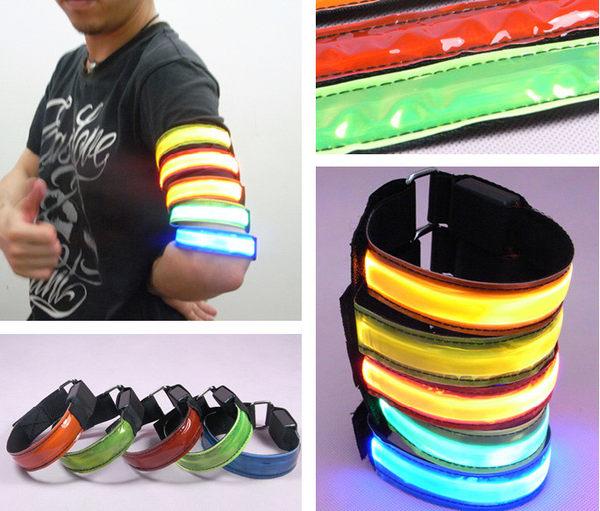 LED反光寵物狗狗項圈手臂帶腕帶綁腿帶3種尺寸3種閃燈顏色隨機~4G手機