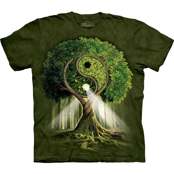 『摩達客』 (預購)美國進口【The Mountain】Classic自然純棉系列陰陽村設計T恤(10412045056a)