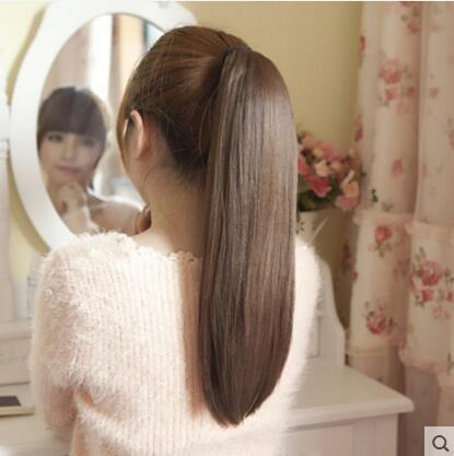 夏洛克假髮女長直發假髮綁式假馬尾蓬鬆逼真可愛髮型髮尾片假髮