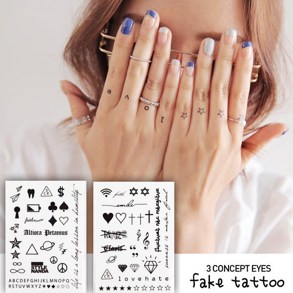 3CE 紋身貼紙 3 CONCEPT EYES FAKE TATTOO 【櫻桃飾品】【24040】