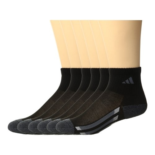 Adidas-  愛迪達學童6雙組1/4高襪子(黑色)