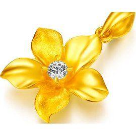 代購八佰兩黃金千足金12分鑽石吊墜999金鑽石墜子天然南非鑽石HRC千足黃金鑲鑽工藝墜飾