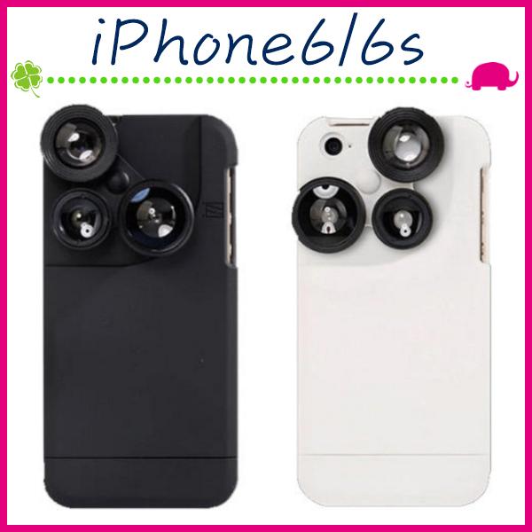 Apple iPhone6 6s 4.7吋Plus 5.5吋四合一鏡頭手機殼組合式背蓋魚眼保護套增距拍攝神器手機套