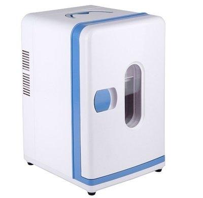 12L立式迷你冰箱車家兩用冷藏箱保溫冷暖箱藍星居家