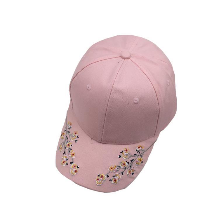超豐國際帽子女韓版百搭時尚刺繡梅花棒球帽夏季出游遮陽鴨舌1入