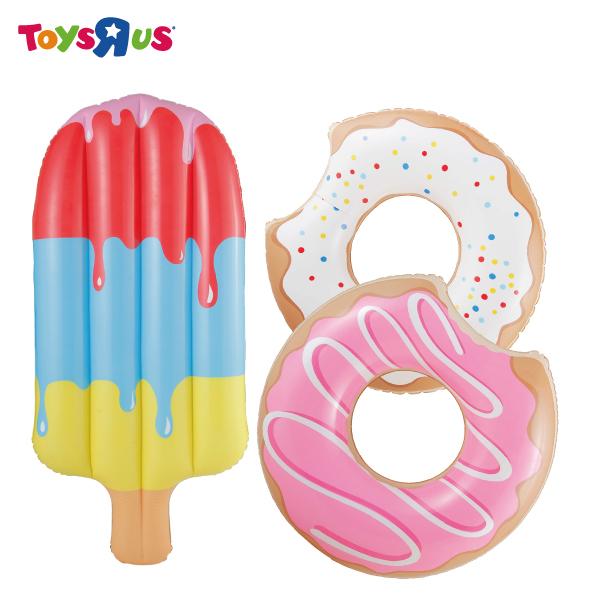 玩具反斗城甜甜圈冰棒造型浮床