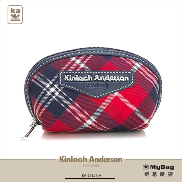 Kinloch Anderson金安德森皮夾零錢包KA151211紅藍經典格紋女夾MyBag得意時袋
