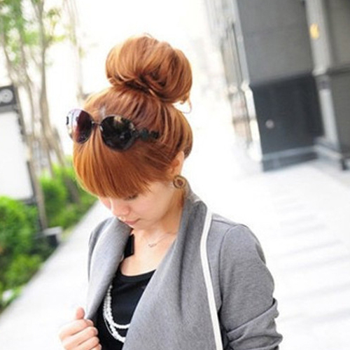 可愛甜甜圈美髮盤髮造型 荷包頭【AG05049】99愛買生活百貨