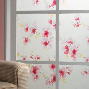 優質彩繪窗貼100x200公分-花語