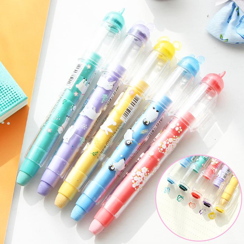 TT韓國文具甜蜜蜜多功能橡皮擦可愛印章多頭橡皮可換芯