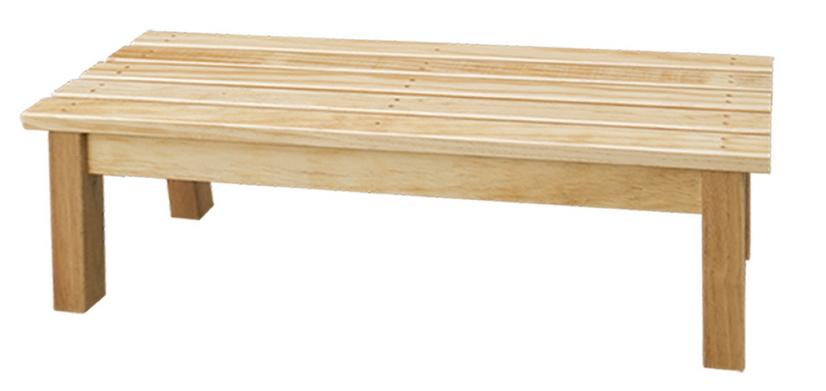 【IS空間美學】原木條狀長條椅