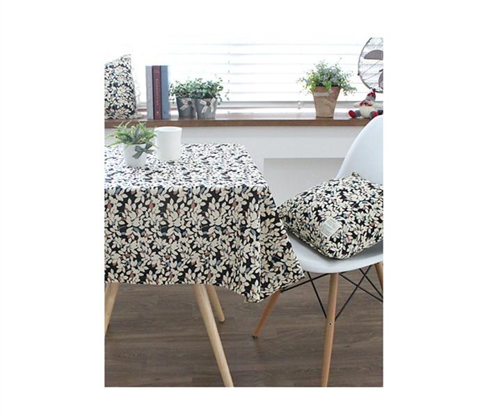 [Mamae] ~新品~100*100 出口韓國樹葉圖案時尚桌布 野餐 露營桌 蛋捲桌 摺疊桌 餐桌墊 餐桌巾