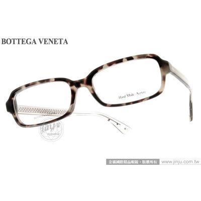 BOTTEGA VENETA光學眼鏡BV6032F 5EH琥珀灰-編織透銀頂級精品平光鏡框金橘眼鏡