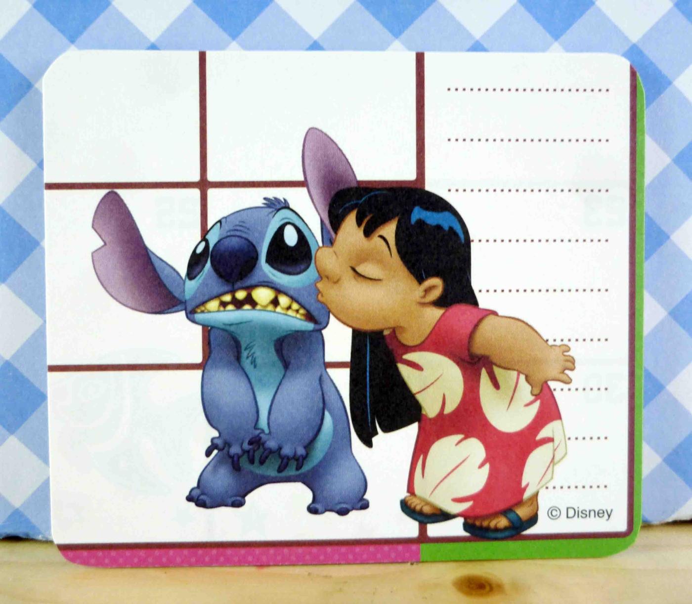 震撼精品百貨Stitch星際寶貝史迪奇~卡片-親吻