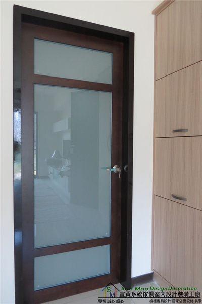 系統家具系統櫃木工裝潢平釘天花板造型天花板工廠直營系統家具價格噴砂玻璃門-sm0581