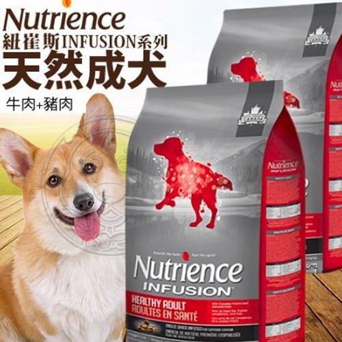【培菓幸福寵物專營店】 紐崔斯Infusion天然成犬牛肉 豬肉5kg