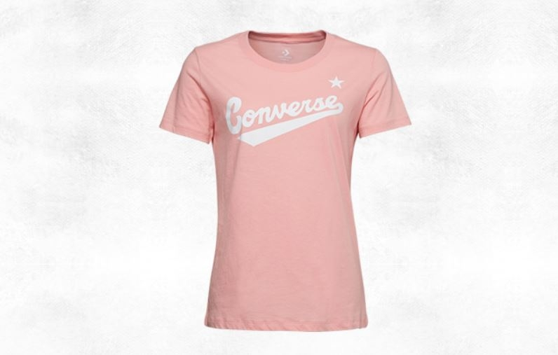 CONVERSE-CENTER FRONT LOGO TEE 女款粉色短袖上衣-NO.10018268-A02
