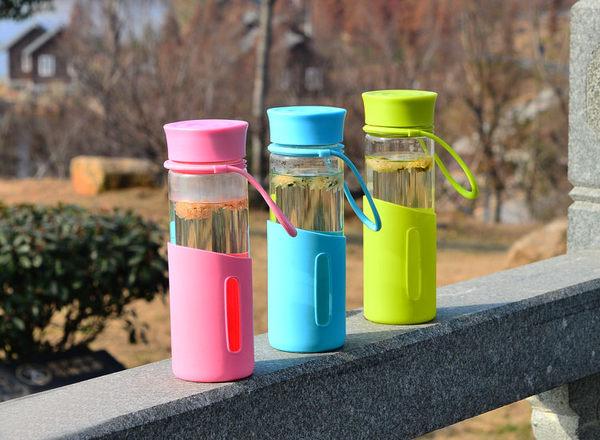 玻璃杯玻璃水壺玻璃水瓶隨手杯480ML-寶儷詩多彩滿490元免運費