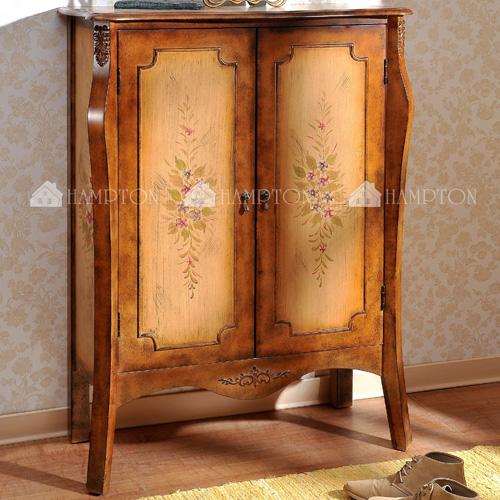 中華批發網:HD-DT-3087英式古典-麥隆彩繪鞋櫃