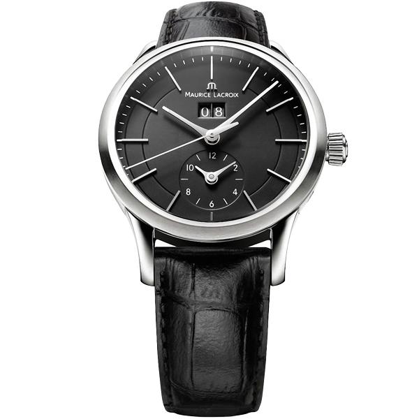 【僾瑪精品】Maurice Lacroix 紳士系列 GMT大日期視窗簡約時尚機械錶-黑/40mm/LC6088-SS001-330