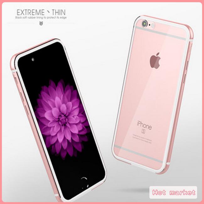 蘋果Apple iphone 7 plus金屬邊框透明背板手機殼金屬保護殼超薄PC後蓋手機套
