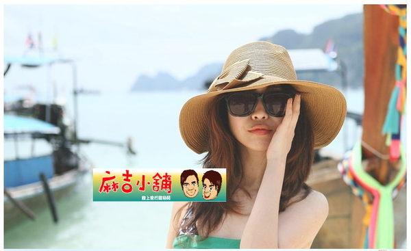 可折疊大簷帽沙灘帽遮陽帽韓版草帽太陽帽女夏天防曬帽子防紫外線