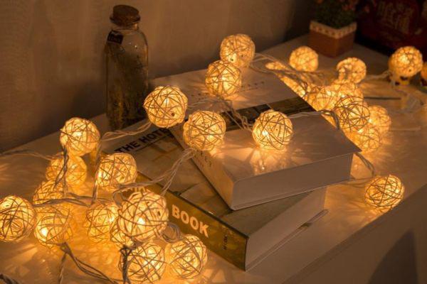 LED燈 聖誕燈 情境燈 藤球燈串 燈籠球 小夜燈 燈串 創意燈球 裝飾燈
