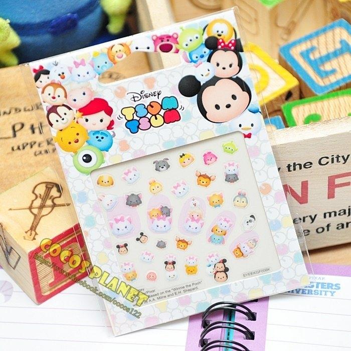 迪士尼指甲貼紙TSUM TSUM迪士尼疊疊樂瑪莉貓瑪麗貓美甲貼指甲貼紙指甲貼COCOS PF033