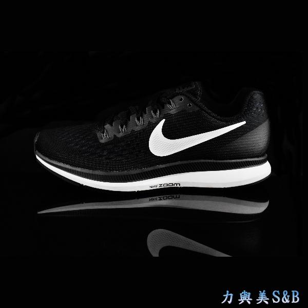 NIKE女運動慢跑鞋隱藏式氣墊設計避震性佳舒適好穿適合久走久站黑色鞋面白色LOGO 7498